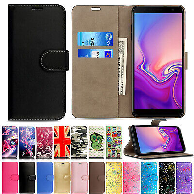 Case For Samsung Galaxy J4 J6 S10 S9 S9 Plus Leather Wallet Flip Stand Case Covr