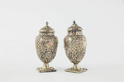 .925 FULLY HALLMARKED STERLING SILVER SALT & PEPPER SET 143g