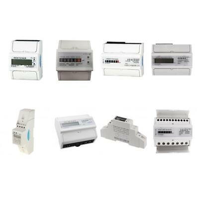 Single / Three Phase Electricity Sub Meter Digital kWh DIN Rail Power 18 Models