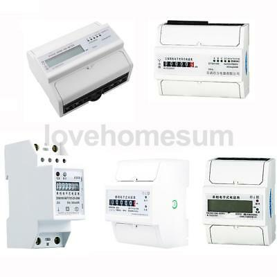 Single / Three Phase Electricity Sub Meter Digital kWh DIN Rail Power Select