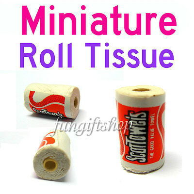Dollhouse Miniature 2 x Scott Rolls Toilet Tissue Paper toy size mini doll house