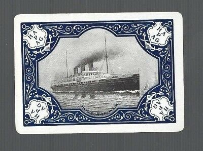 Playing  SWAP Cards 1  VINT  WIDE  HAMBURG   AMERICAN   LINE   SHIPPING   S46