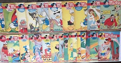 RARE MICKEY MAGAZINE JOURNAL N° 27 à 52 ALBUM RELIURE N° 2 1951 BD DISNEY BELGE
