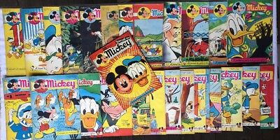 Rare Mickey Magazine Journal 210 A 235 Album Reliure 9 1954 Lot Bd Disney Belge