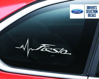 Ford Fiesta is in my Blood window sticker decals graphic
