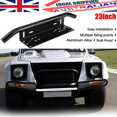 Number Plate Frame BullBar Mount Bracket Car Driving Light Bar Holder Black 23""