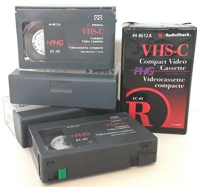 VHS C cassette tapes EC 45 PHG Bulk Video camcorder recording compact blank