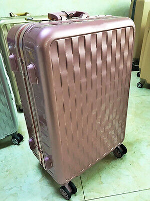 """26"""" Rose Gold Height 70cm PC Business Universal Wheel Travel Suitcase Luggage"""