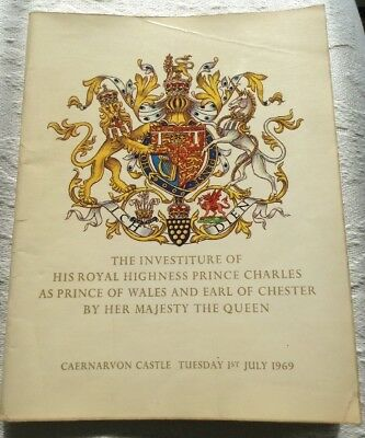Vintage Booklet The Investiture Of His Royal Highness Prince Charles