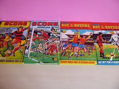 Roy Of The Rovers 1975/3 Score 1973/6 Annual Children Book Vintage Collectable