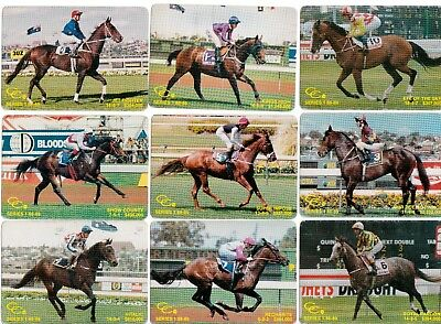 horses Playing card swap cards vintage 1980's original racing named cards