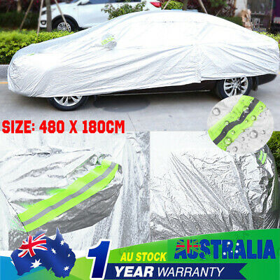 Double Thicker waterproof car cover rain resistant Aluminum UV proof protect 3XL