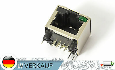 Original Amphenol-Tuchel Electronics Ethernet Connector LAN RJ45 with LED