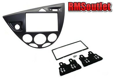 Connects2 Ford Focus Mk1 1998-2005 GRAPHITE Double Din Stereo Facia Adapter LHD