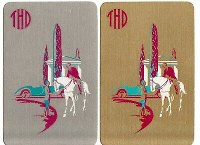 Playing cards swap cards single gold silver deco horses