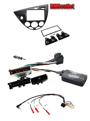 Connects2 Ford Focus Mk1 1998-2005 GRAPHITE Double Din Stereo Facia kit LHD