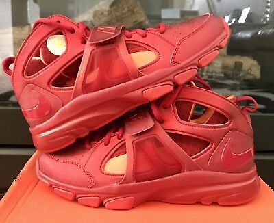 New Nike Zoom Huarache TR Mid The Flash Varsity Red Challenge Red Orange SZ 9.5