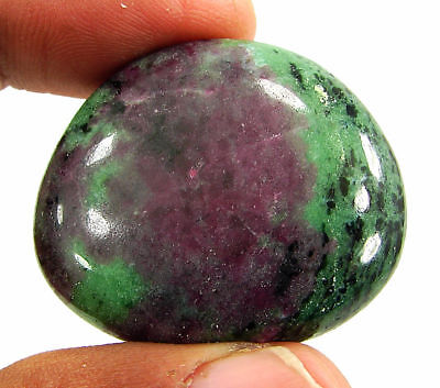 118.90 Ct Natural Ruby Zoisite Anyolite Loose Gemstone Cabochon Stone - 19238