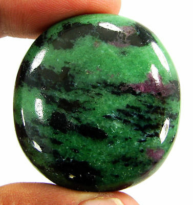 153.55 Ct Natural Ruby Zoisite Anyolite Loose Gemstone Cabochon Stone - 19222
