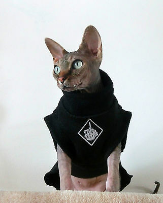 adult MIDDLE FINGER Sphynx cat clothes, sweater for a cat, HOTSPHYNX, funny cat