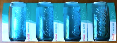 Coke Glass 2017 4x Aqua Glass. Limited Edition. Rare. Special Offer. Brand New.