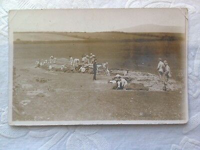 Used Postcard 1908, Digging Trenches....