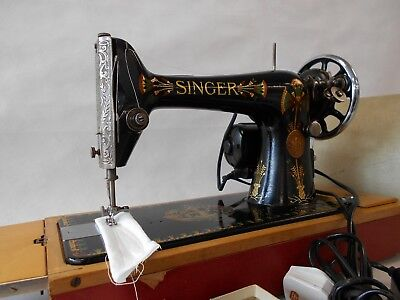 Heavy Duty Singer 66 Lotus Decals Straight Stitch Electric Sewing Machine