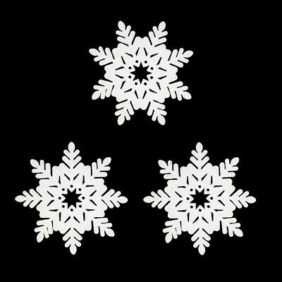 Classic Snowflake Ornaments Christmas Holiday Party Home Decor White