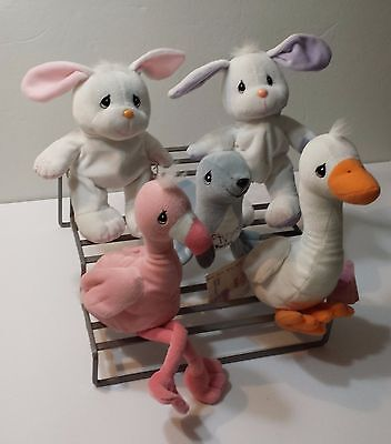 Tender Tails Precious Moments Plush Stuffed Animal Lot of 5  Duck Flamingo Seal
