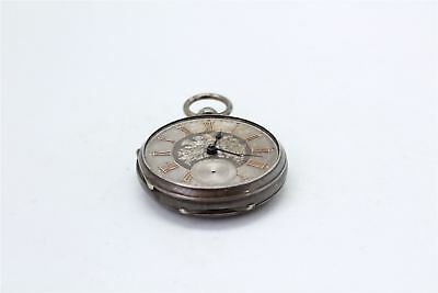 Antique HALLMARKED STERLING SILVER Case / Dial Fusee Pocket Watch SPARES 124g