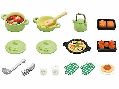 Sylvanian Families Calico Critters Cooking Set Kitchen Goods Epoch Japan KA-410