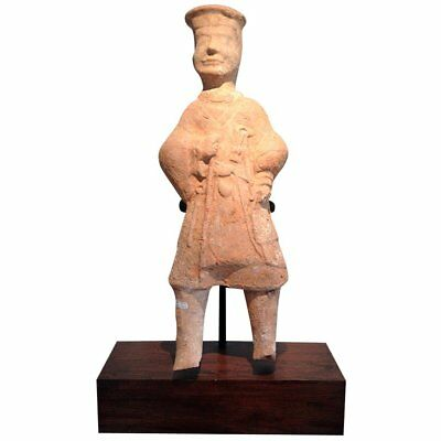 A large pottery figure Chinese Han Dynasty