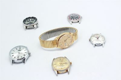Lot of SIX AUTOMATIC WRISTWATCHES inc SEIKO & CAMY ALL WORKING