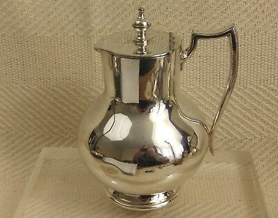 "Vintage Art Deco Silver Plated Milk Jug By James Deakin & Sons 6 1/2"" tall"