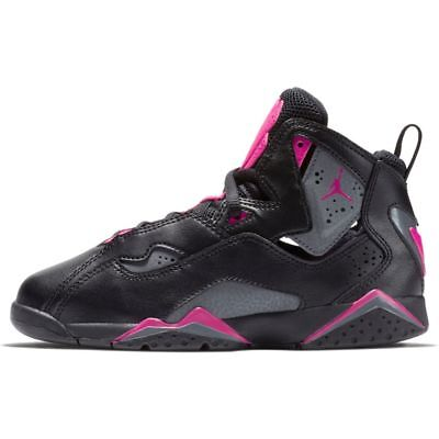 Kids (PS) Air Jordan True Flight Black/Dark Grey-Pink 342775-009