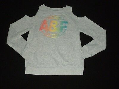 Abercrombie Kids Girls Grapic Cold-Shoulder Sweatshirt Size 13/14