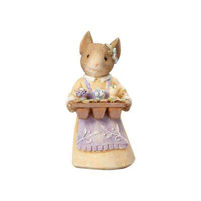 """Enesco Tails with Heart """"Mouse with Flower Tray"""" Figurine (4060181)"""