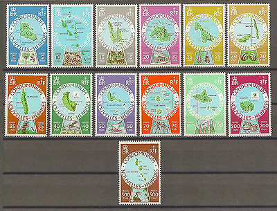 NEW HEBRIDES 1977-78 SG F256/68 MNH Cat £32