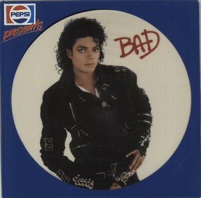 "Michael Jackson Bad 12"" Pepsi Promo Picture Disc"
