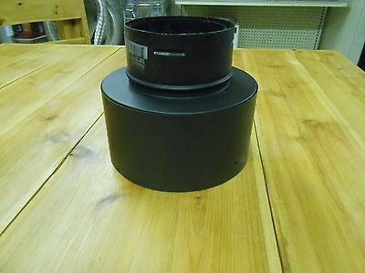 "Simpson Dura-Vent Pellet Vent Pro Pipe 4"" to 6"" Chimney Adapter Black"