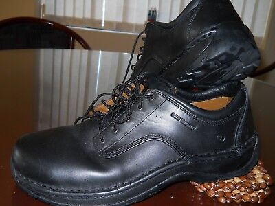Red Wing SteelToe Work/ Safety Mens Shoes Size US 11,5 Black leather