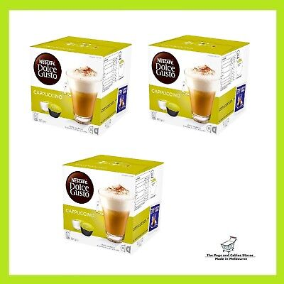 NESCAFE Dolce Gusto Pods Cappuccino - 24 servings (24 coffee + 24 milk pods)