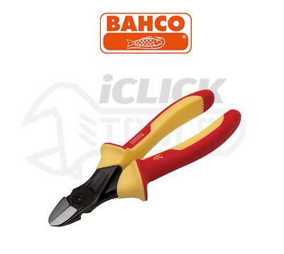 """BAHCO 2101S180 ERGO 180mm 7"""" VDE Insulated Wire Side Cutter/Cutting Plier New"""
