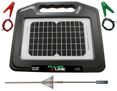 Solar Electric Fence Energiser Fencer Pulseline PLS05 0.5J