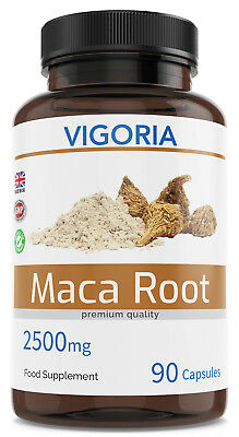Maca Naturelle 2500 mg 90 Capsules (3 Mois d'approvisionnement) | Made in UK