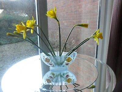 Mothersday Gift Blue Glass Crocus Vase With Frog