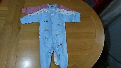 Baby Boy Zoo Animals Sleepsuits 3-6 Months Brand New from NEXT