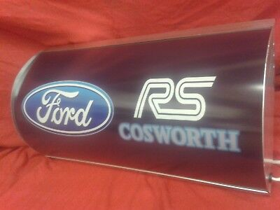 Ford,sierra,cosworth,rs,garage,light up,sign,display,mancave,workshop,shed,car