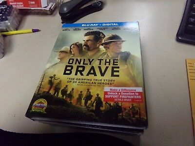 Only the Brave (Blu-ray Disc, 2018, Includes Digital Copy) W/Slipcover-New