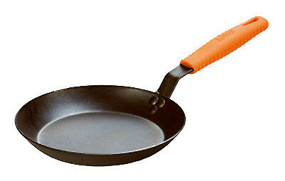 Lodge Mfg CRS12HH61 12 Inch Seasoned CarbonSteel Skillet with Orange Silicone
